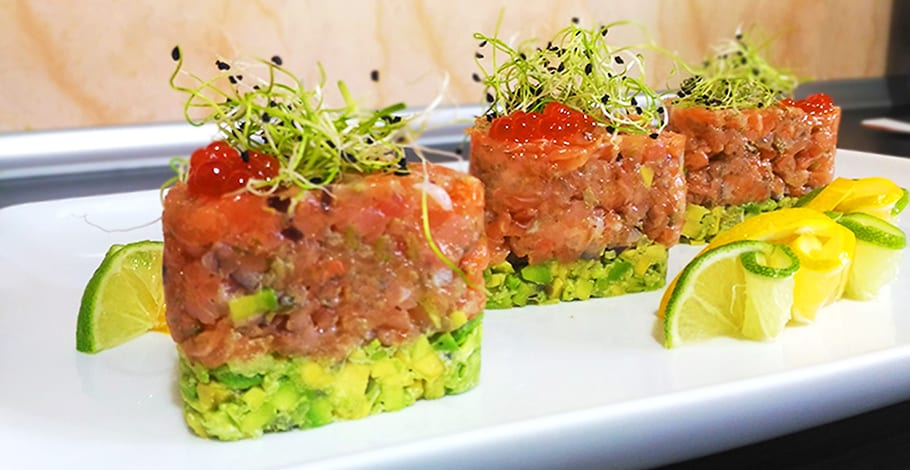 tartar de salmon fresco receta