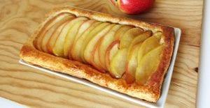 Tarta de hojaldre de manzana con crema pastelera