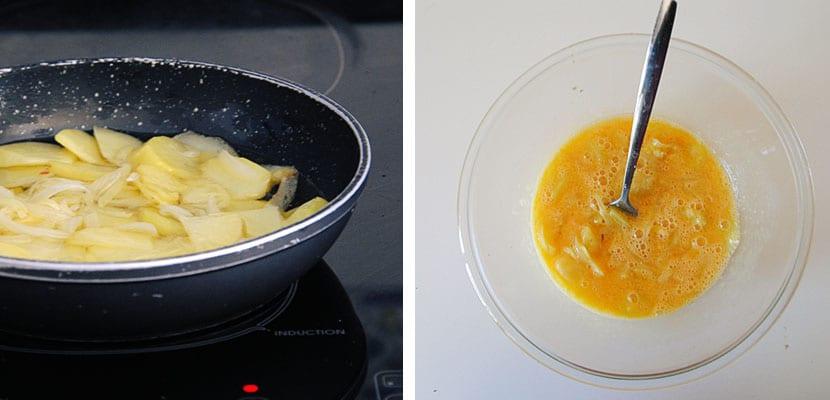 Pimientos rellenos de tortilla de patata