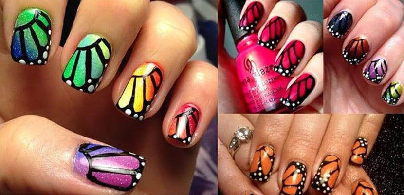 Uñas mariposas