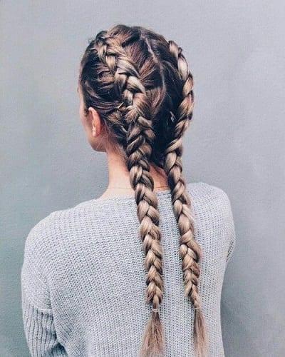 es la ltima tendencia en trenzas y es un peinado muy solicitado en grandes salones de belleza - Trenzas Pelo Largo