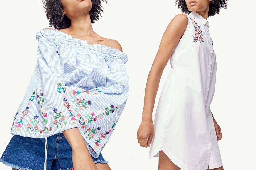 Blusas de moda con bordados