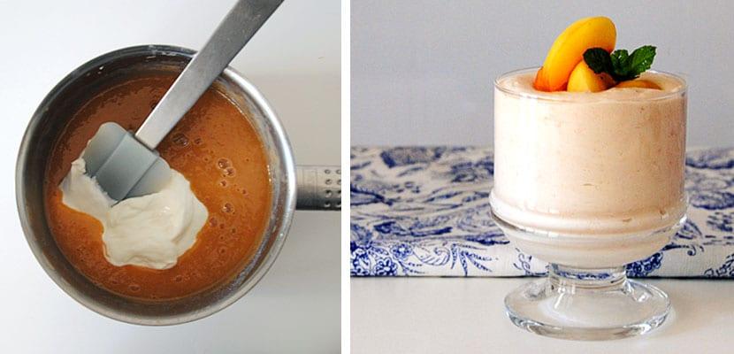Crema de yogur griego y albaricoques