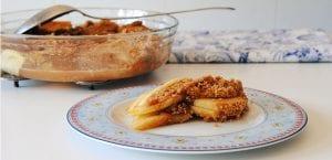 Crumble de manzana y galleta