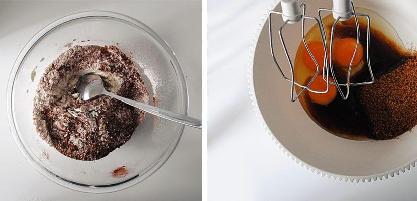 magdalenas de chocolate, naranja y canela
