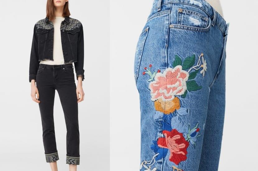 Pantalones Jeans bordados