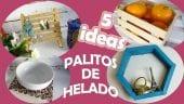Vista previa del artículo 5 ideas fáciles y rápidas que puedes hacer con palitos de helado