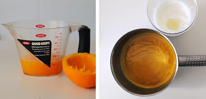 Crema de naranja con nata montada