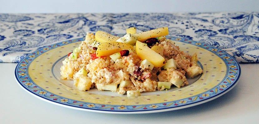 Ensalada de quinoa y albaricoques
