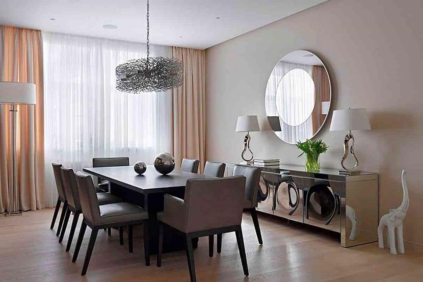 Consejos para decorar con espejos redondos for Espejos horizontales para comedor