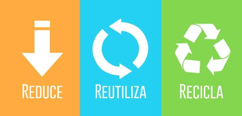 Consumo sostenible: Reduce, reutiliza, recicla