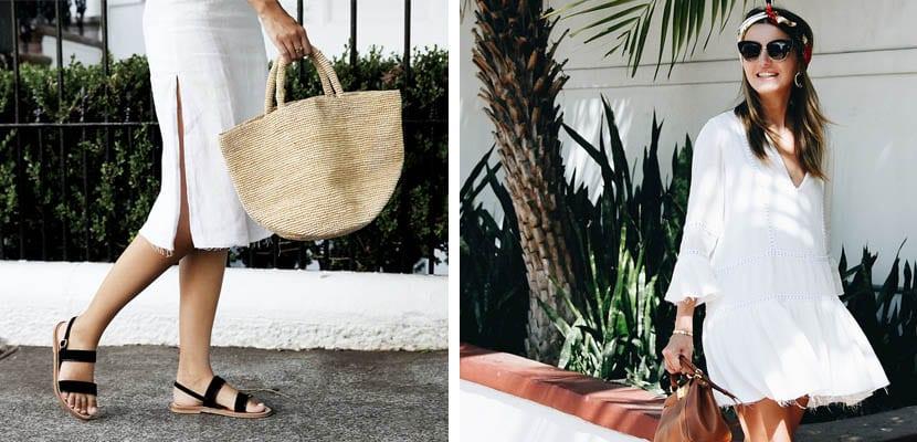 Vestidos blancos - looks de verano