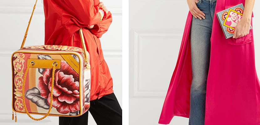 Bolsos con estampado floral