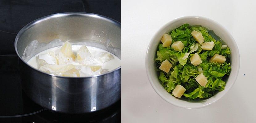 Ensalada verde con queso Idiazábal