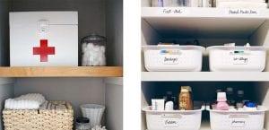 Organización de medicamentos en casa