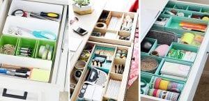 Organización de los jajones del escritorio