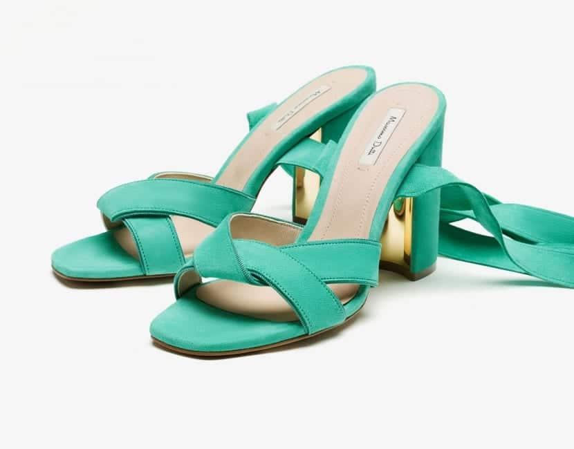 Sandalias en color verde