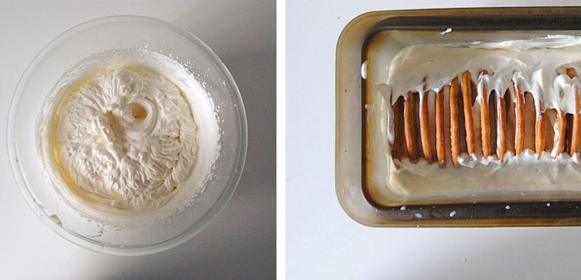 Tarta helada de galletas y chocolate