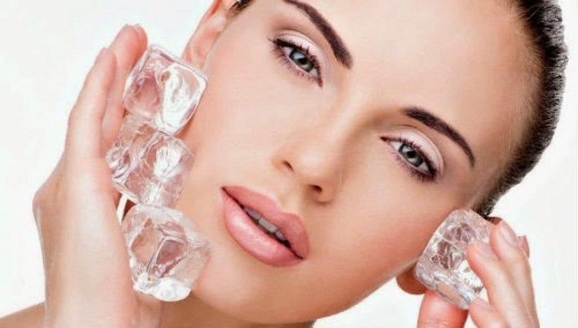 tratamiento de hielo para el acné