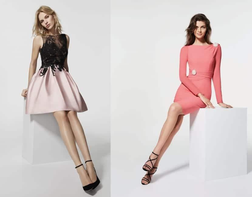 Vestidos cortos en colores para boda