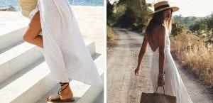 Vestidos largos y sandalias planas