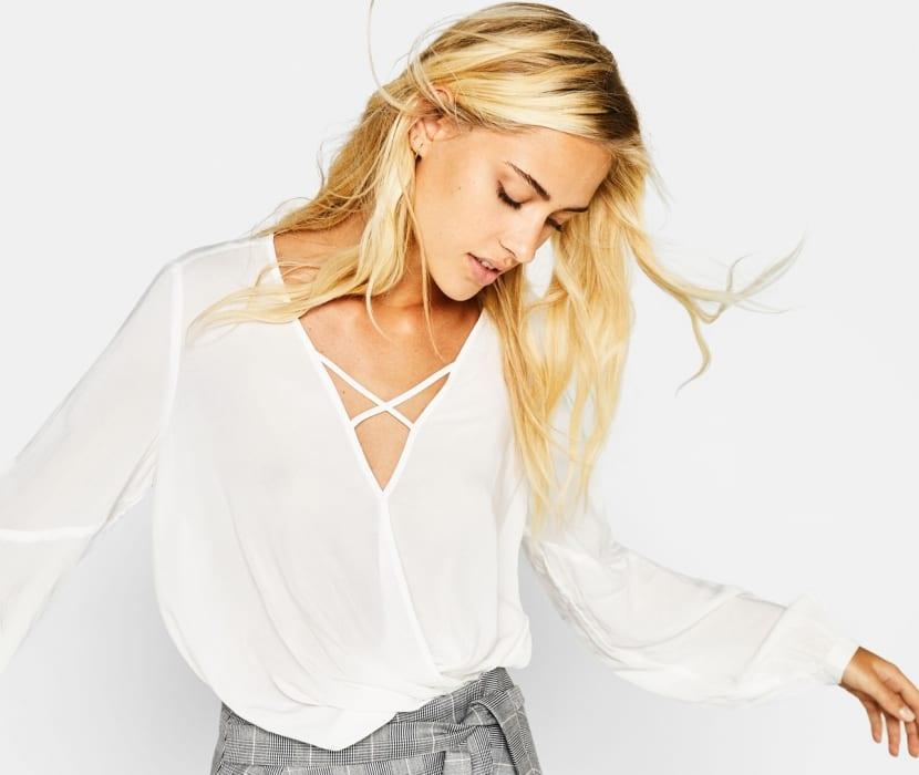 Blusas blancas de gasa