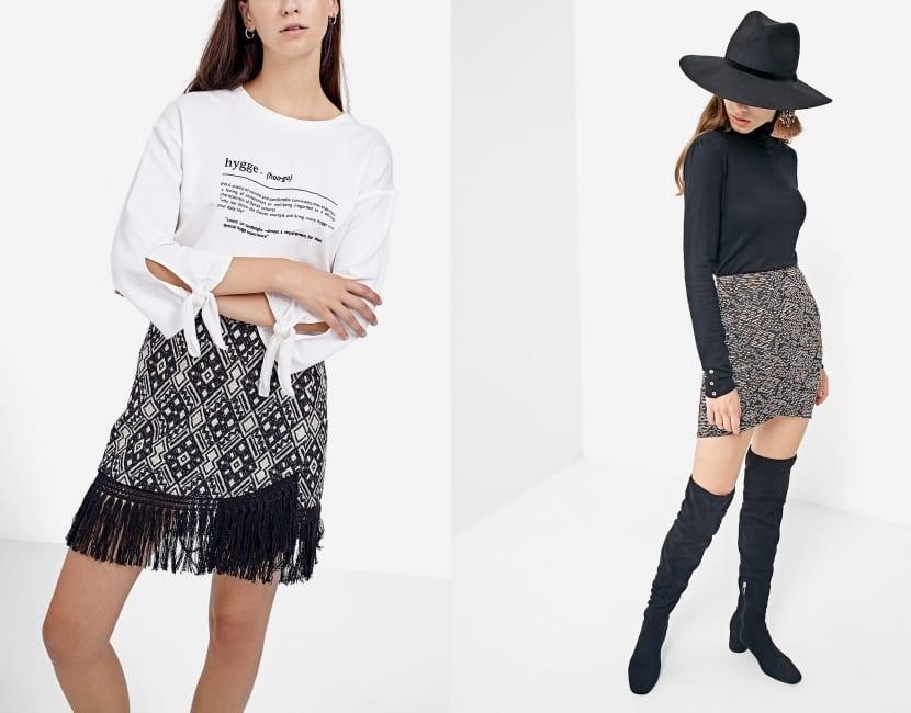 Mini-faldas para invierno