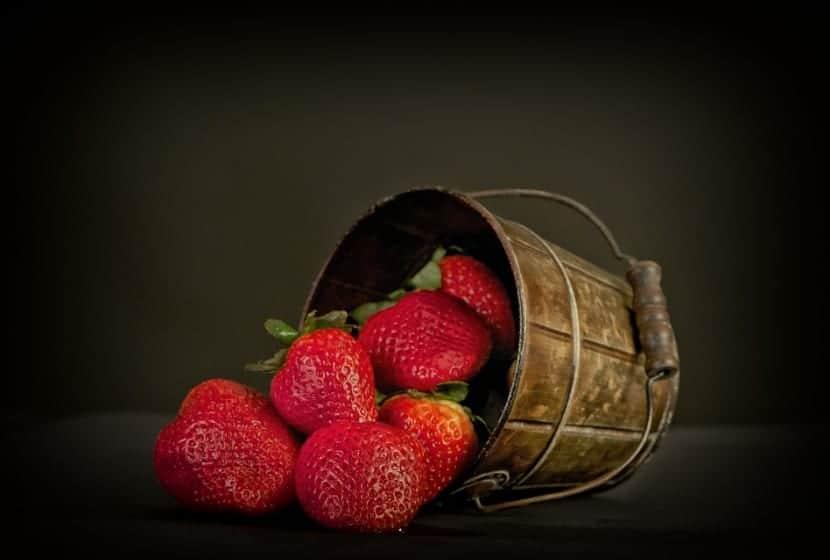 Fresas ácido fólico