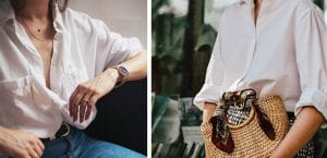 Looks de verano con camisa blanca