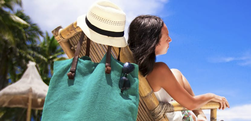 Neceser en la playa