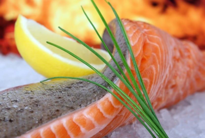 Salmón para dieta saludable