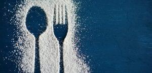 cuchara y tenedor de azucar