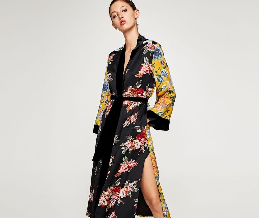 Kimono con cinturón
