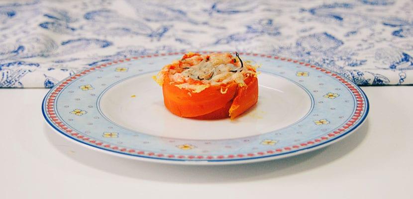 Rosas de zanahoria y queso