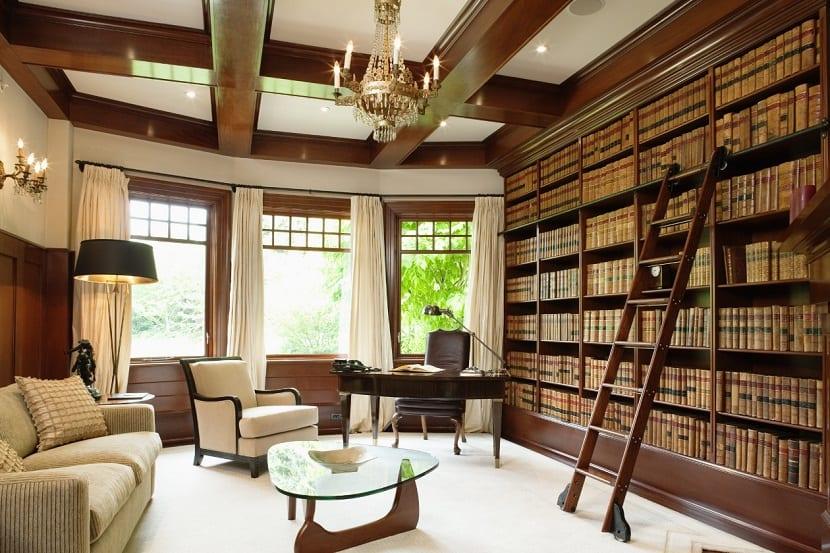 Opciones para ordenar tu biblioteca for Despachos lujosos