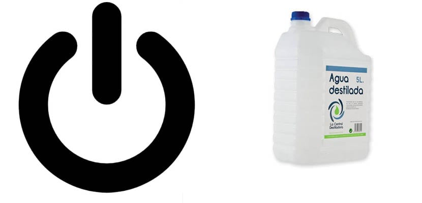 Limpiar con agua destilada