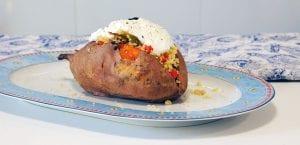Boniato relleno de cuscús y verduras