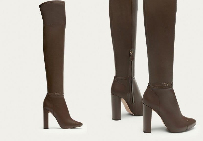 Botas altas en marrón
