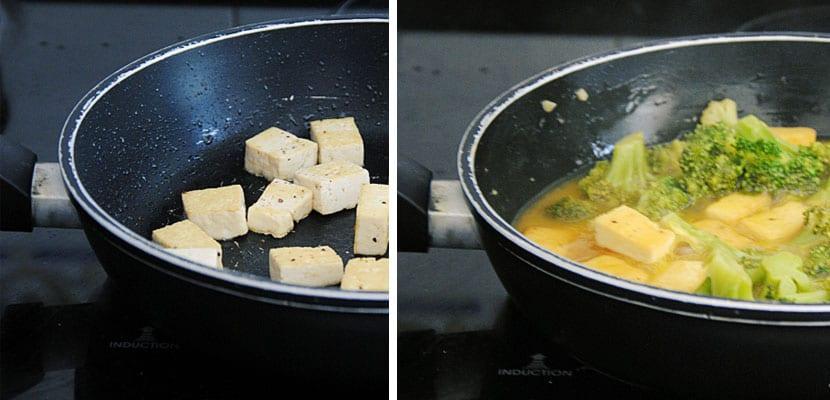 Brocoli y tofu a la naranja