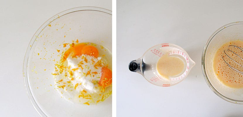 Crema cuajada de naranja
