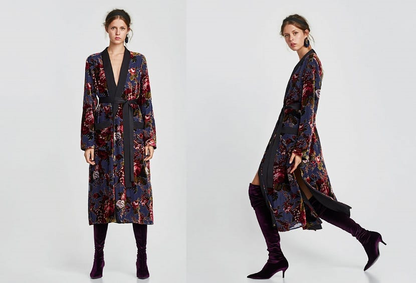 Kimono de terciopelo