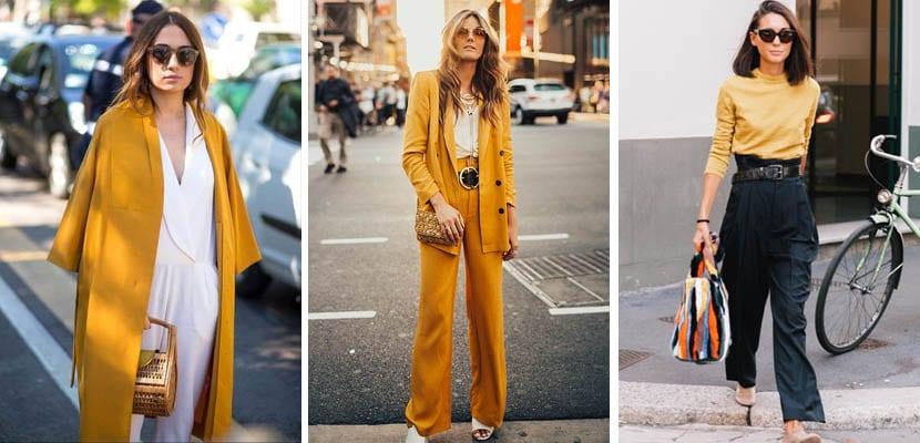 Looks de otoño con amarillos y mostazas