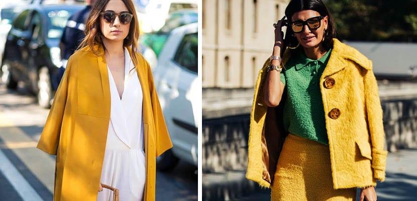 Looks de otoño con amarillo o mostaza