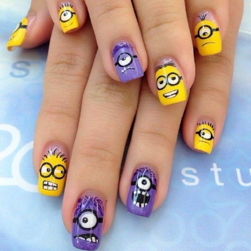 Cómo hacer unas uñas Minion