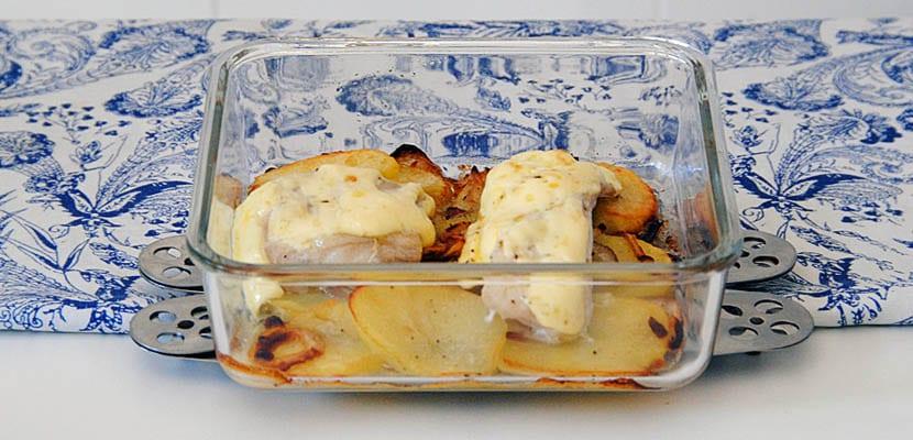 Merluza al horno con mayonesa