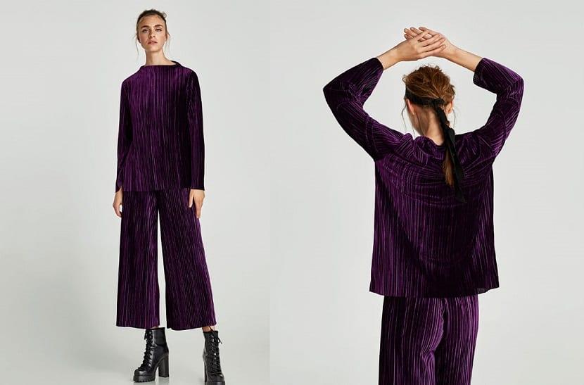 Pantalón y blusa terciopelo