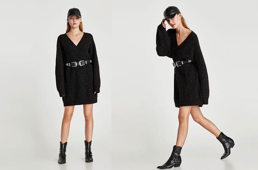 Jersey oversize como vestido