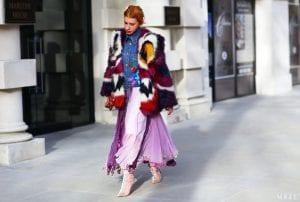 abrigo de colores de pelo inspiración street style