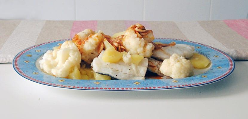Bacalao con coliflor