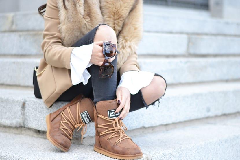 botas de nieve street style